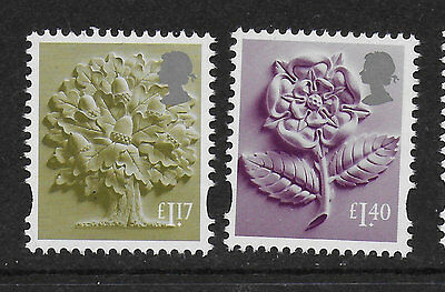 1) GB Stamps 2017 England Definitives £1.17 & £1.40 Mint NH.