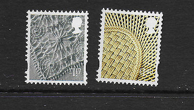 1) GB Stamps 2017 N.Ireland Definitives £1.17 & £1.40 Mint NH.