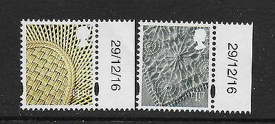 GB Stamps 2017 N.Ireland Definitives £1.17 & £1.40  + Date Tab Mint NH.