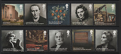 1) GB Stamps 2012 Britons of Distinction Full Set. Mint NH.