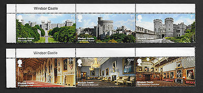 1) GB Stamps  2017 Windsor Castle With Name Tabs. Full Set NH Mint.