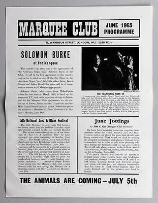 THE WHO Yardbirds Solomon Burke - rare orig Marquee Club 1965 concert handbill