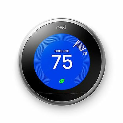 Nest Learning Wifi Thermostat 3Rd Generation T3007Es – Brand New!!