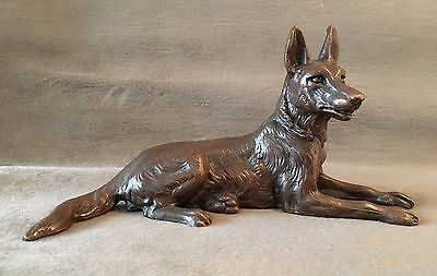 Jennings Brothers Metal Dog Figurine 2915 German Shepherd Vintage 1930s 1940s