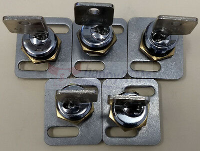 Wincor Proinfo Series Set Of 5 Locks With Keys Pn: 175041773