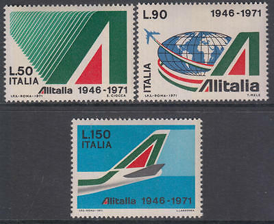 XG-AN061 ITALY - Aviation, 1971 Alitalia Company Anniversary MNH Set