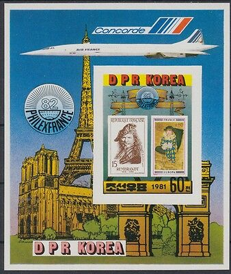 XG-AN450 KOREA - Aviation, 1981 Concorde, Philexfrance Imperf. MNH Sheet