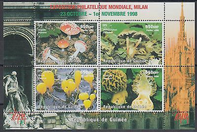 XG-AN870 GUINEA - Mushrooms, 1998 Nature, Italia '98 MNH Sheet
