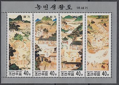 XG-AN407 KOREA - Paintings, 2000 Rural Life MNH Sheet