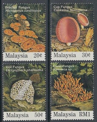 XG-AN927 MALAYSIA - Mushrooms, 1995 Nature, 4 Values MNH Set