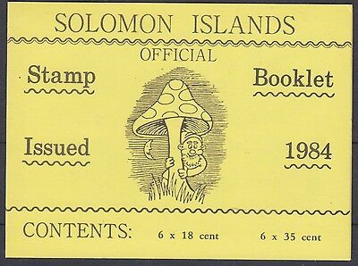 XG-AN962 SOLOMON ISLANDS IND - Mushrooms, 1984 Nature MNH Booklet