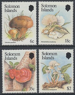 XG-AN973 SOLOMON ISLANDS IND - Mushrooms, 1984 Nature, 4 Values MNH Set