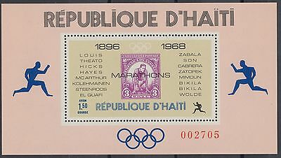 XG-AN261 HAITI - Stamp On Stamp, 1969 Olympic Games Winners MNH Sheet