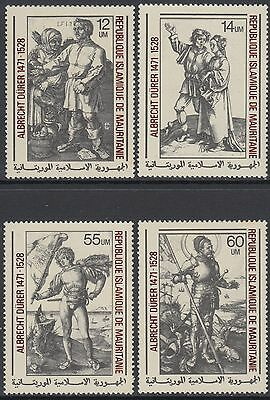 XG-AN935 MAURITANIA IND - Paintings, 1979 Durer Anniversary, 4 Values MNH Set
