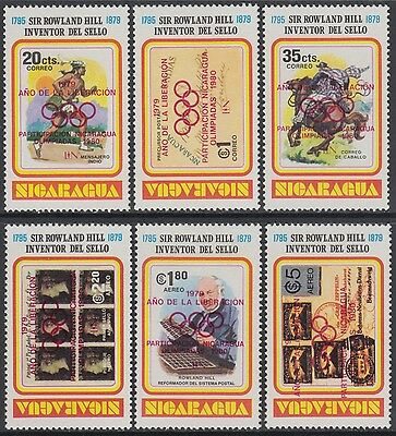 XG-AN288 NICARAGUA - Olympic Games, 1980 Red Ovp., Rowland Hill MNH Set