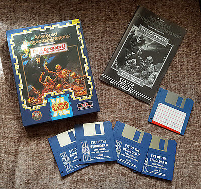 Eye Of The Beholder Ii Original Vintage Boxed Game For Commodore Amiga