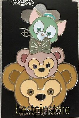 Disney pin - HKDL Tsum Tsum - Duffy ShellieMay & Gelatoni