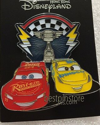 Hong Kong Disney pin - HKDL Pixar Cars 3 - Lightning McQueen & Cruz Ramirez