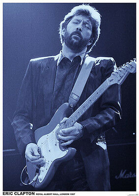 Eric Clapton at Royal Albert Hall London 1987 Photo Poster  23.5 x 33 UK Import