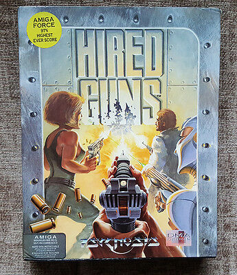 Hired Guns By Psygnosis -  Vintage Boxed Game For Commodore Amiga