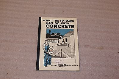 Vintage Portland Canada Cement Company What The Farmer Can Do With Concrete