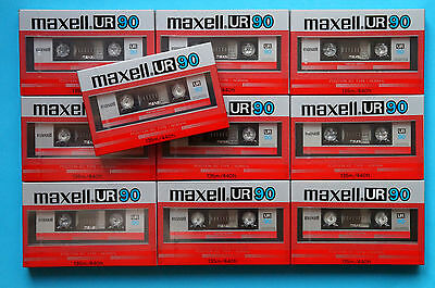 10x MAXELL UR 90 Cassette Tapes 1985 + OVP + SEALED + US-VERSION ++