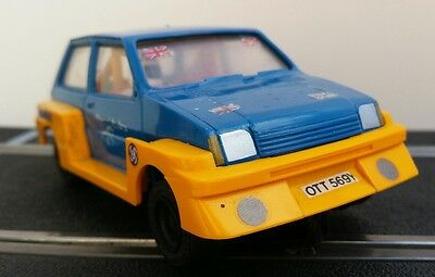 Scalextric Vintage Mini Metro Turbo (C215)  Blue And Yellow