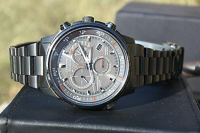 """Citizen Men's AT4117-56H """"Nighthawk A-T"""" Stainless Steel Eco-Drive Watch"""