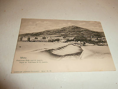 cpa METZ Digue Vadrineau ST Quentin. PostKarte Union postale universelle 1903