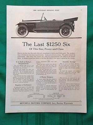 1918 Lot Vintage Automobile Magazine Ads ~ Mitchell Six ~ Racine WI