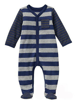 New Baby Boy Early Baby Cotton Sleepsuit /Footed One-Piece @RRP $24.95 @NB@NWT