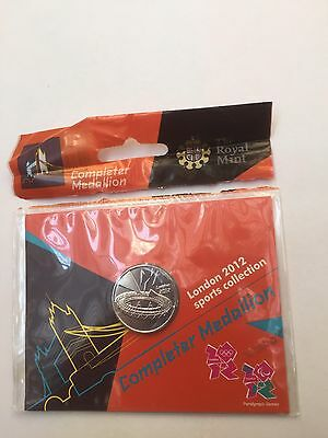 London 2012 Olympic 50p Sports Collection Completer Medallion New Unopened