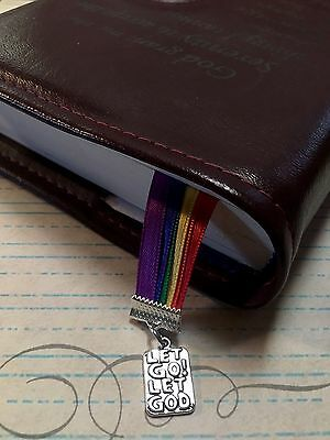 Multi Page Ribbon Bookmark AA Big Book  Let Go Let God - Multiple Color Choices
