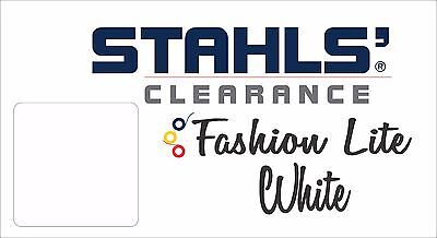 "15"" x 4 Yards - Stahls' Fashion-LITE Heat Transfer Vinyl - HTV - White"