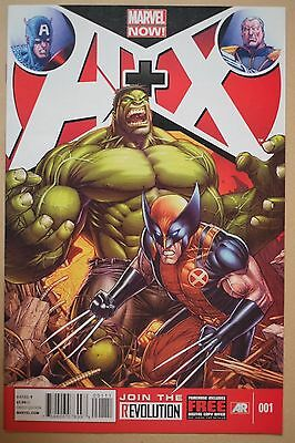 A+X, Avengers + X-Men Issue #1 First Print Marvel Now Rare Comic New Wolverine