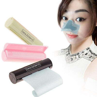 Women Oil Remover Clean Tissue Oil Blotting Paper Black Pink Green Rollers Gift