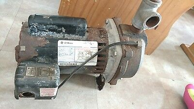 General Electric 1 Hp 1 Phase Deep Well Water Pump And Motor