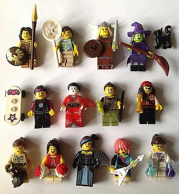 Lego Minifigures 13 Lot Female Various Series