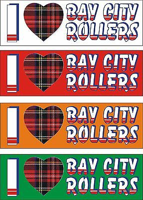 """Bay City Rollers """" Limited Edition Coloured I Love Bay City Rollers Badge"""