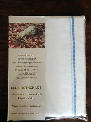 Super King Size *hand Crafted*  Duvet Cover Set Egyptian Cotton 600 Thread Count