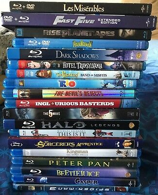 Huge Lot Of 20 Blu Ray Movies Must See!!!!