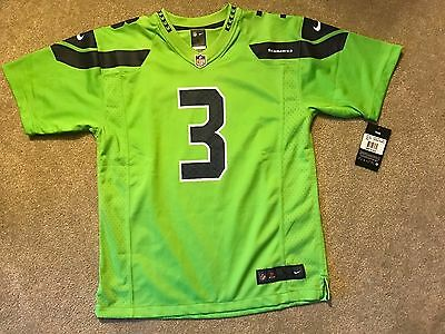 NEW Russell Wilson Seattle Seahawks Nike NFL COLOR RUSH Youth Jersey NWT Large L
