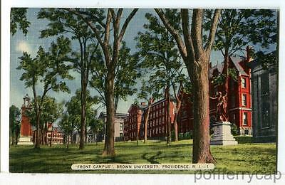 """Front Campus"" Brown University, Providence RI 1930 - 1945 College Postcard"