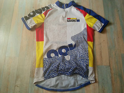 Maillot Cycliste Velo Look By Biemme Taille L/4 Tbe