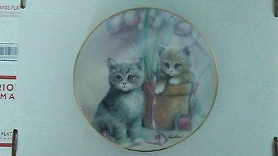 Danbury Mint Playful Companions Limited Edition Plate Kitten Cats Ruane Manning