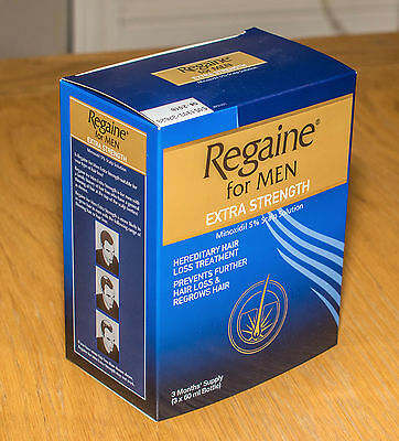 Regaine For Men Hair Loss Treatment Extra Strength 5% 3x60ml (3 Months Supply)