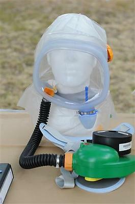 ISRAEL 2008 NEW PROTECTIVE HOOD KIT WITH BLOWER large size GAS MASK sealed