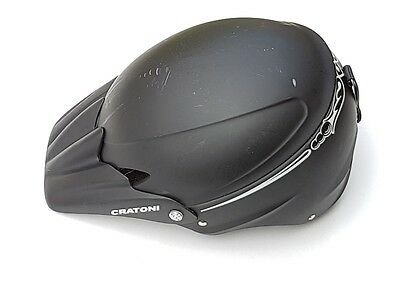 Cratoni Ski Snowboard Helmet Black with detachable peak size 58 - 62