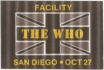 THE WHO *1982* backstage facility pass ticket Roger Daltrey Pete Townshend