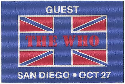 THE WHO *1982* VERY RARE backstage pass ticket Roger Daltrey Pete Townshend
